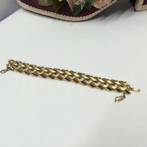 Unique Vintage Monet Gold tone Bracelet